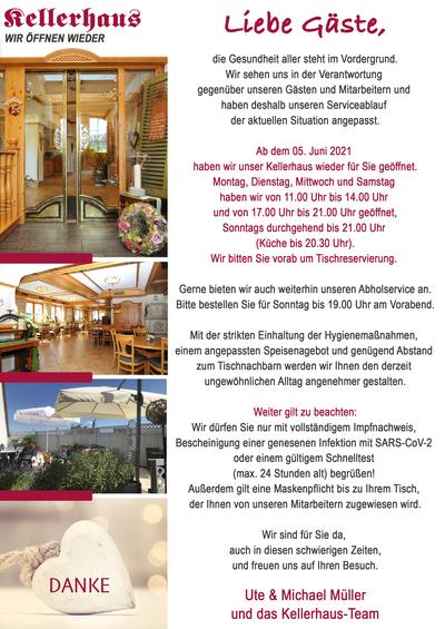 Kellerhaus Oberalfingen - Wir öffnen wieder!